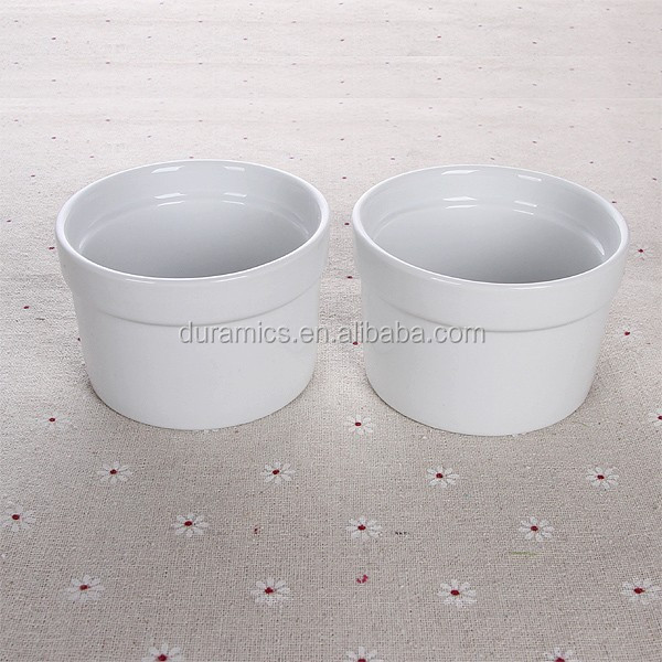 Pure white ceramic cup mousse cup baking cup cake