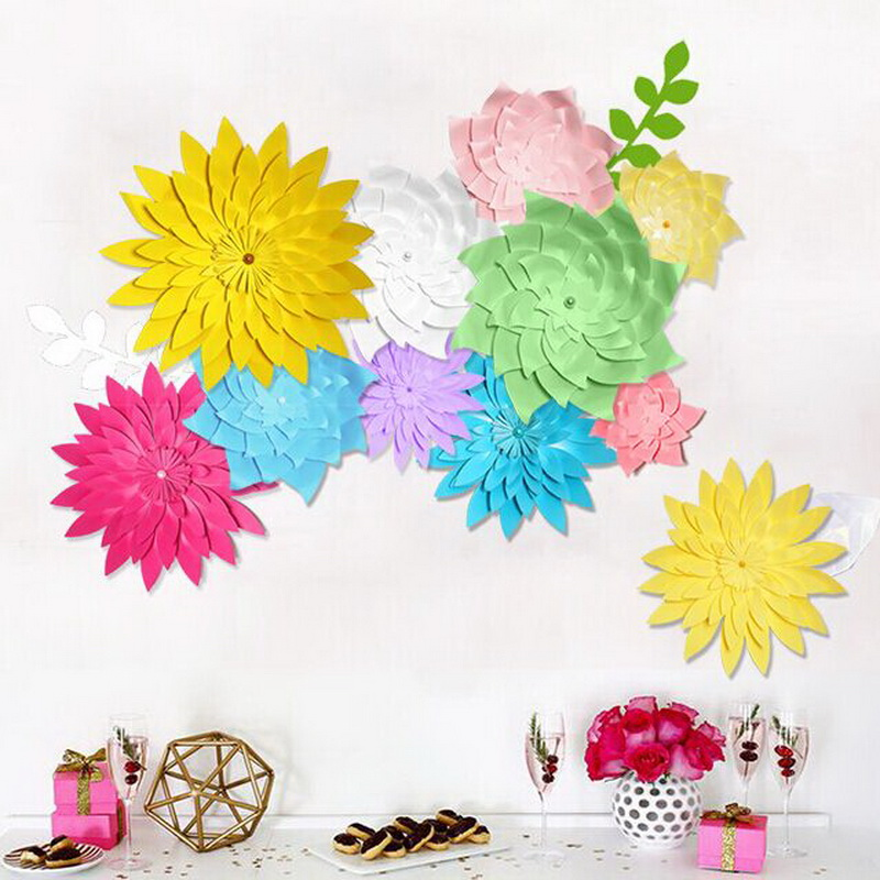 Paper Flowers Wedding Wall Decorations 20cm Handmade Paper Flower Backdrop