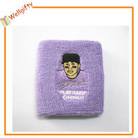 Purple Terry Sweatbands For Tennis Racket