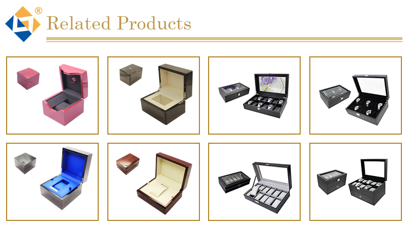 Hot Sale Draw-out Type PU Leather 20 Grid 30 Grid Watch Boxes