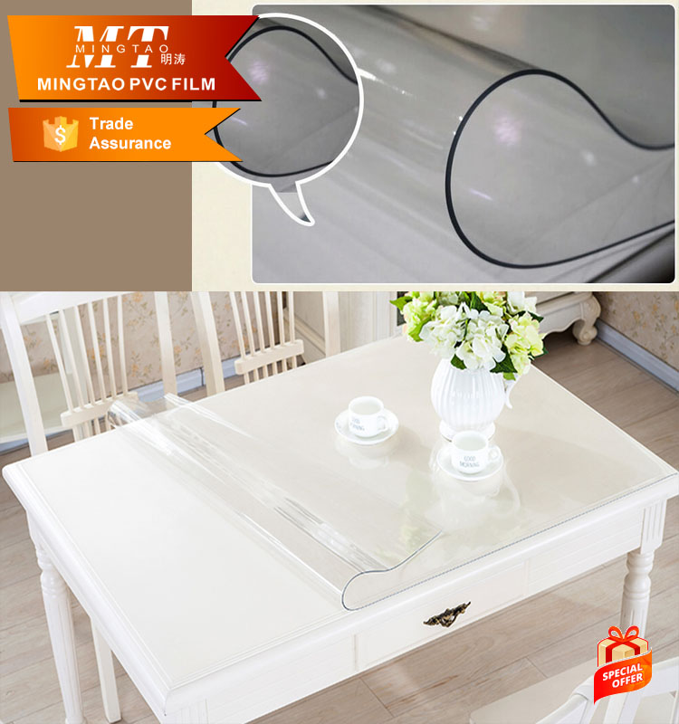 Non toxic transparent Plastic table cover sheet pvc for tablecloth