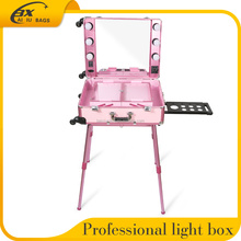 Wholesale Extra-Thick Aluminum professional beauty box Makeup Vanity Case With Light mirror