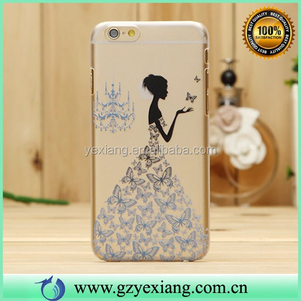 Printing TPU Back Cover For Iphone 6 Fashion 3D Cell Phone Case Cutsom