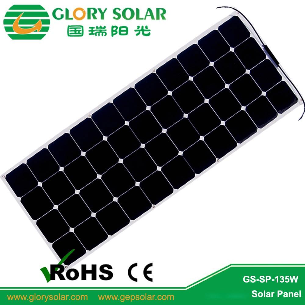 China Solar Panels Factory Direct Price 135w Semi Flexible