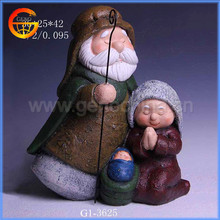 Home decorative items family fiberglass christmas figure