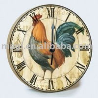 2011 Dia10cm Hot Rooster Wooden Wall Clocks