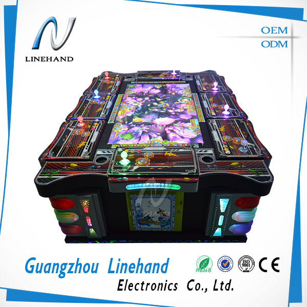 Linehand amusement video shooting fish game, ocean monster arcade game cheates