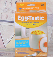 Egg tastic, microwave boiled egg cup mini and ceramic cup AS SEEN ON TV