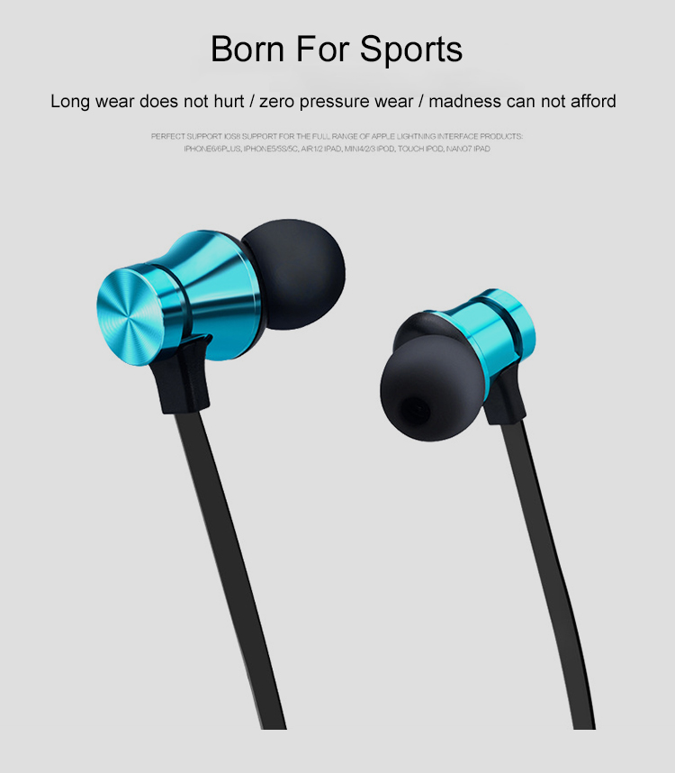 Best  In Ear Headset Wireless Stereo  Earphone  Bluetooths Headphone Neckband