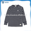Custom flat knit black and white stripe t-shirt for men
