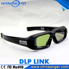 plastic frame black for 3d film 3d active shutter glasses