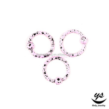 Hot selling pink color BCR nose ring for sale