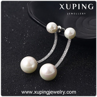 E-35 xuping fashion jewelry silver design double side pearl earring