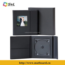 Deluxe leather CD DVD folio with one or two disc holder manufacturer in China