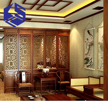 guangzhou 3d wall cladding panel decorative wooden carved screen