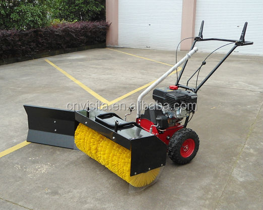 CE Gasoline Power Broom Sweeper with Snow Blade