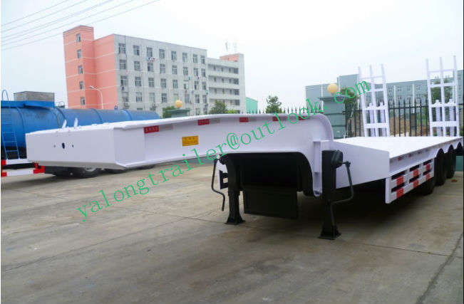 top quality china sale 40ft low-bed semi-trailer china trailer supplier