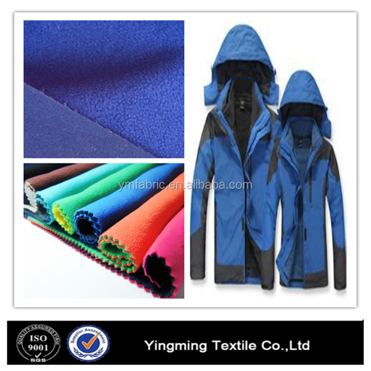 Skiing windproof lycra softshell jackets fabric