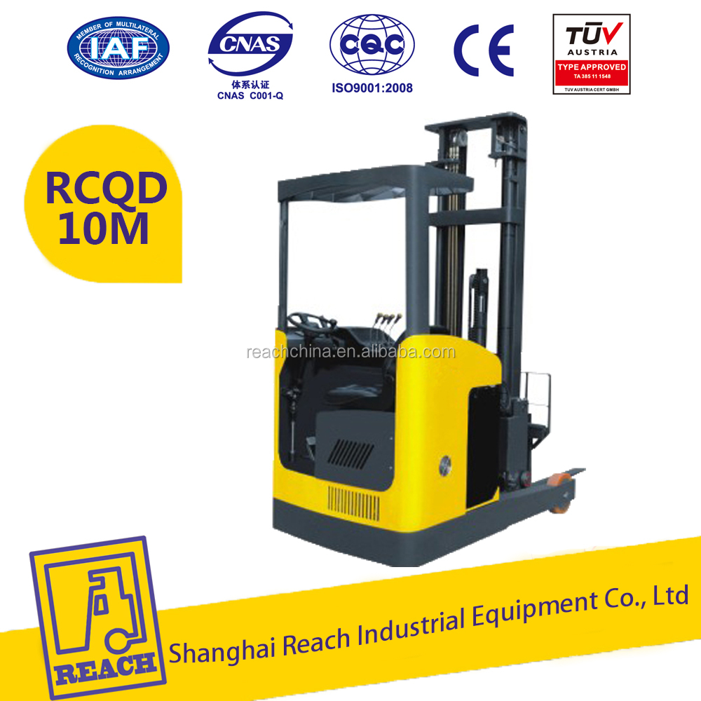 High Lift 6m Counterbalanced Electric Reach Forklift Truck