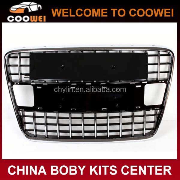 ABS Chromed SQ7 Front Grille Genuine Sport S Style Grill For Audi Q7 2007~2012