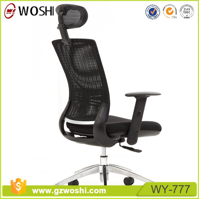 One-step moulding sponge fabric seat chair mesh high back fabric seat chair