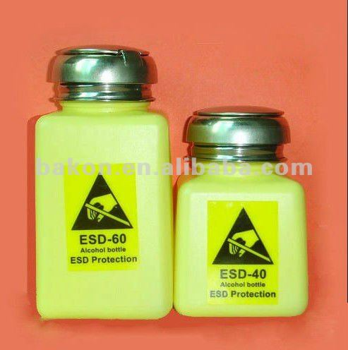available 250ml Antistatic plastic alcohol bottle