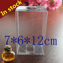 7*7*12cm Pvc Box Party Supplies Small Clear Folding Plastic PVC Pack Box