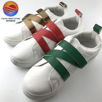New Arrival the Latest Design Buckle Strap PU Casual Shoes for Girls