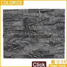 China Natural Culture Stones Man-Made Black Slate Stone Tiles
