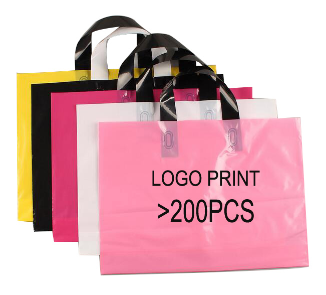 30*40 Logo Print Plastic promotional with handle Shopping <strong>Bag</strong>