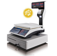 DAHONGYING electronic price computing scales with label printing printer (ACS-P01)