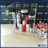Wholesale Alibaba China Acrylic lighting makeup case with stand