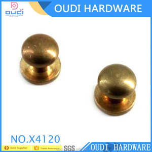 High Quality Antique Brass Ponted Studs With Screws Metal Nipple Nail