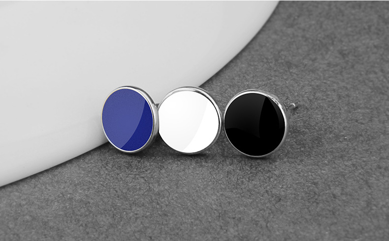 Korean style trendy round earrings for men women