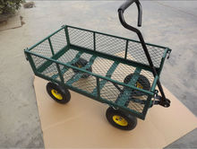 Steel Utility 400 lb Heavy Duty Wagon Cart Lawn Garden Home Yard Farm Trolley