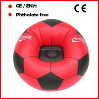 Red color phthalate free pvc foldable water proof football inflatable sofa/ air chair