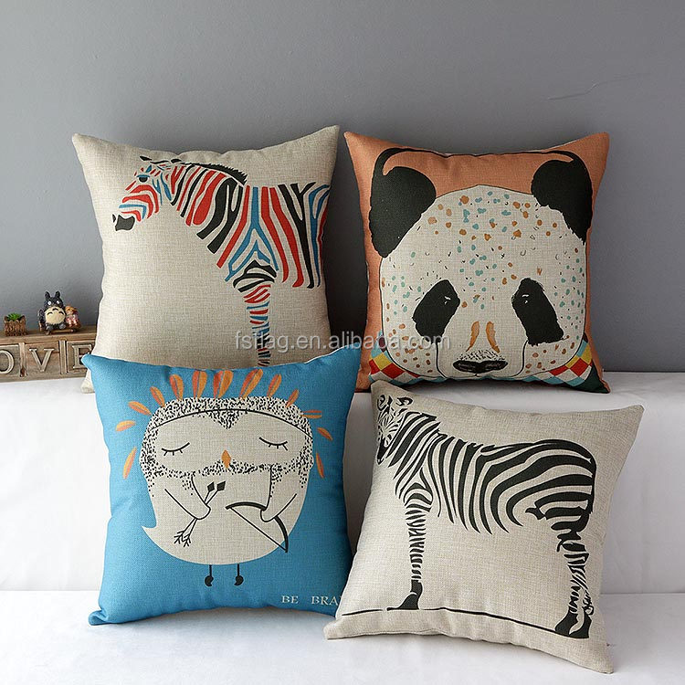 <strong>N</strong>-Series Animal family panda Comfortable zebra Cushion or cat logo Pillow