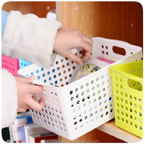 J501 Color Plastic Mesh Cosmetic Bathroom Storage Basket