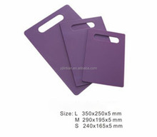 food grade durable kitchen chopping board different size 3pcs colorful cutting board set