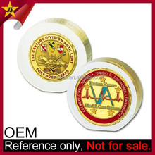 MOQ only 20 Wholesale Gold Coin Insert Custom Metal Paper Weight