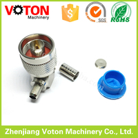 N male right angle 90 degree crimp LMR195 cable connector 50 ohm