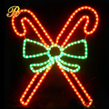 christmas outdoor decor light with led motif light candy cane with bowknot