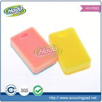 Non scratch kitchen cleaning sponge with scouring pad cloth