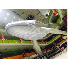 Event Customized 32ft Hanging Whale Inflatable Sea Animal Shark Model For Ocean Event Decoration A240