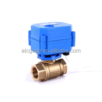 "DN15-25 G1/2""-1"" 2 way mini electric actuator control ball valve"