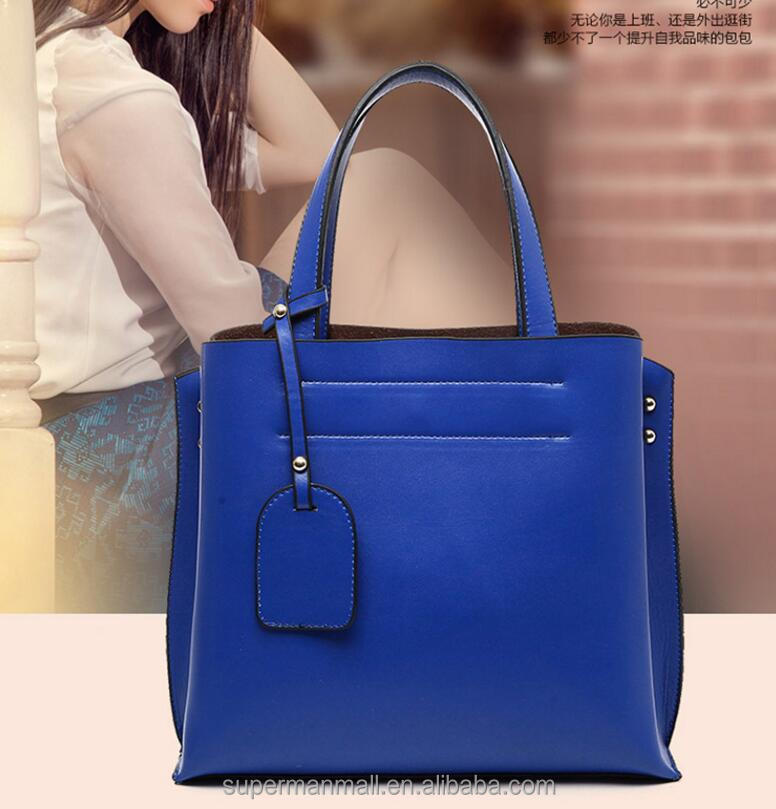 wholesale PU material leather handbag ,cheap lady bag for sale