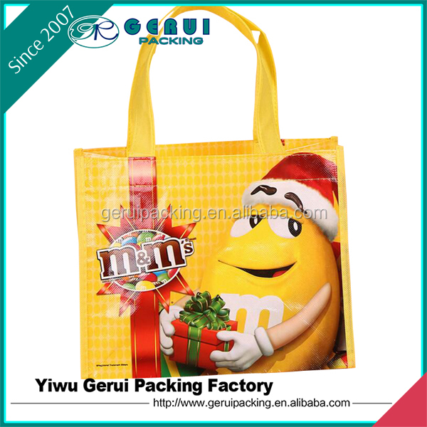 Cheap Manufaturing Cartoon Design Laminated Kids PP Non Woven Shopping Bag