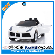 White 2 Seats 12V Rechargeable Kids Electric Ride On 2 Speed Car with RC Light