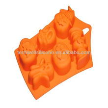 Colorful exclusive halloween silicone pumpkin pie mold