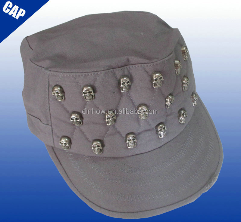 Fashion womens skull stud army winter skull cap
